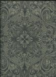 Diamond Wallpaper Topoli 38-Carbon By Wemyss Covers Wallcoverings